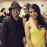 Yoshi with actress/ singer Karen David