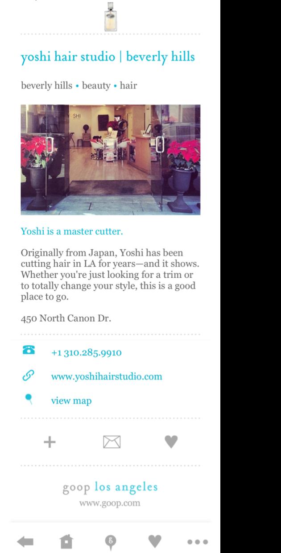 GOOP LA- Yoshi Hair Studio